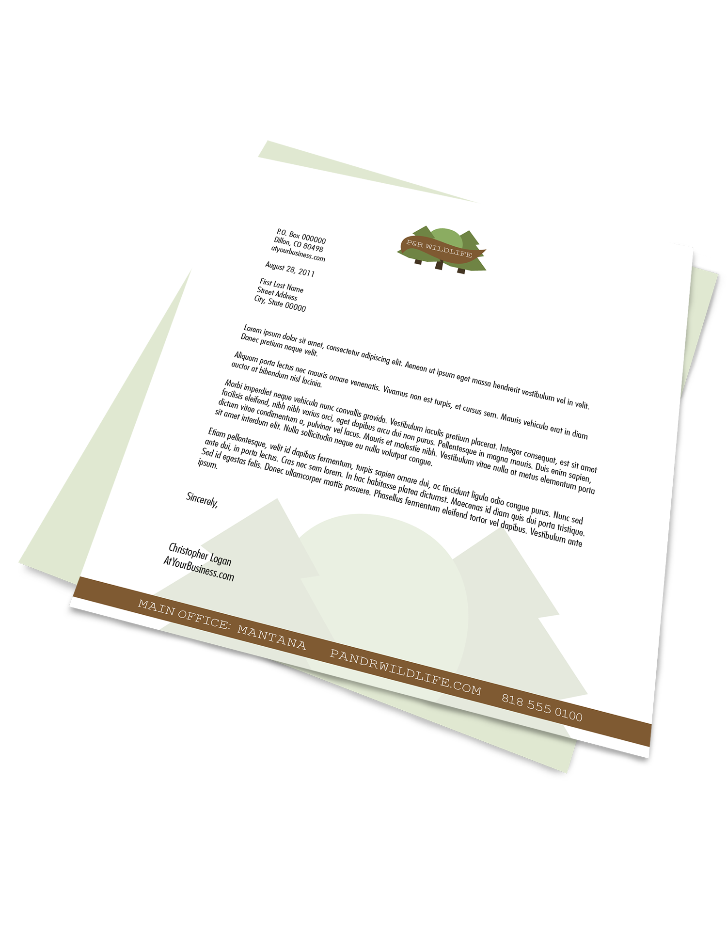 Branded Letterhead Printing - Full Color Printing Services - Roseville Printing California