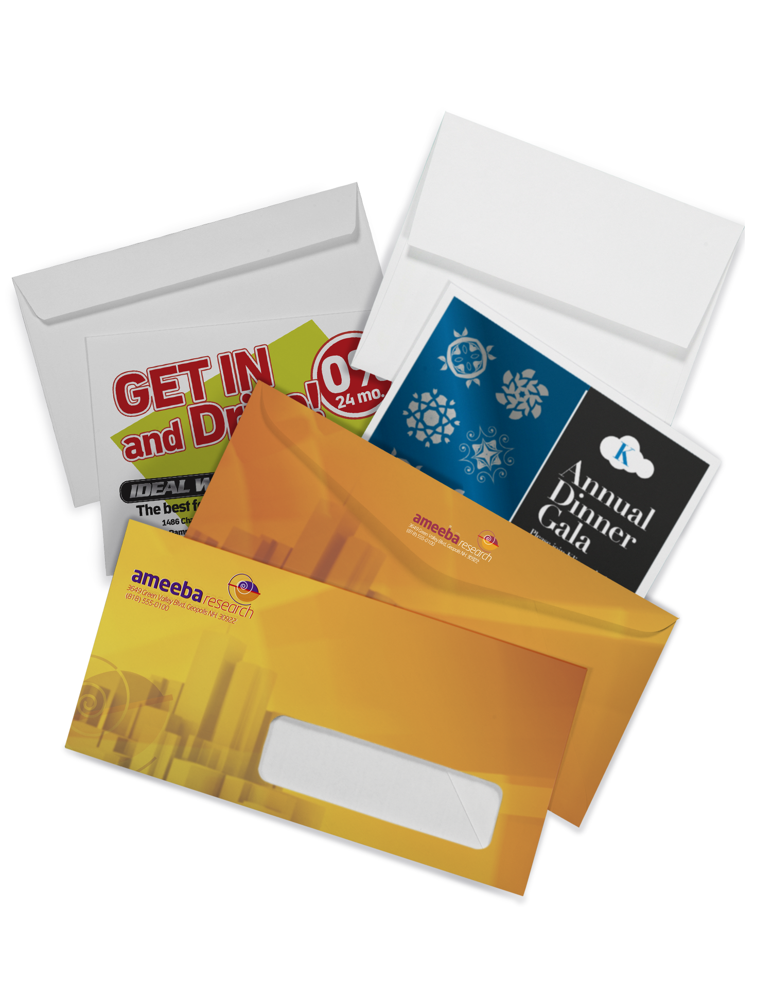 Envelope Printing - Full Color Printing Services - Roseville Printing California