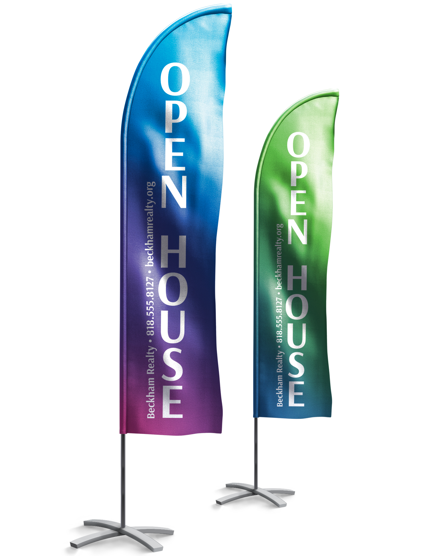 Promotional Vertical Flags - Full Color Printing Services - Roseville Printing California